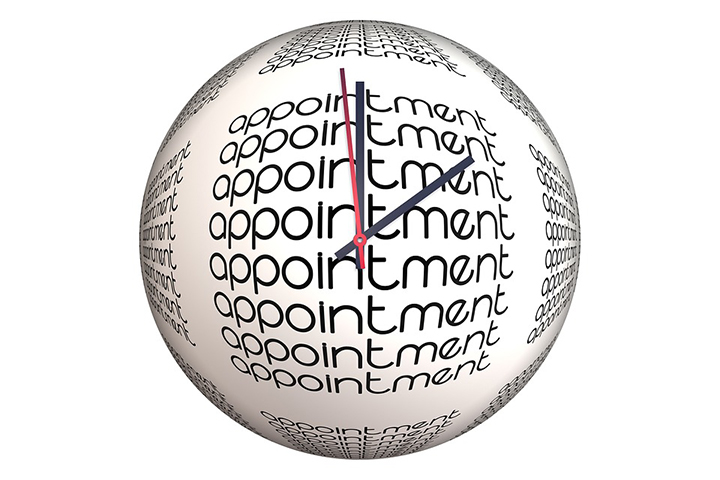 appointment setting clock visual