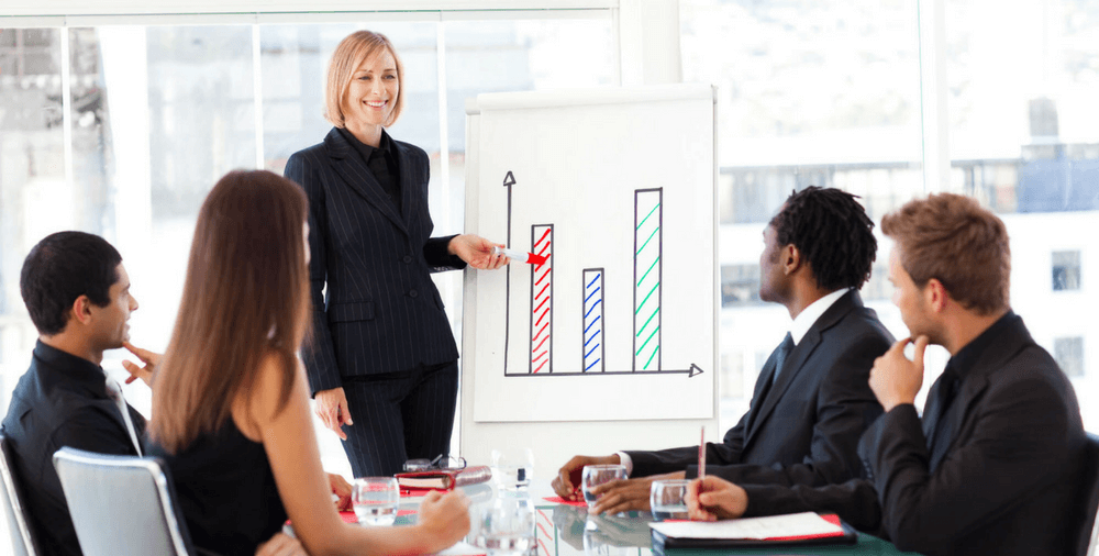 meeting about sales training techniques