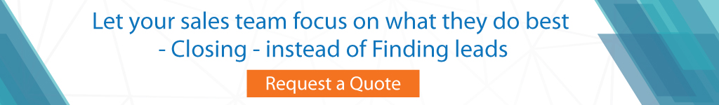 Let your sales team focus on what they do best - Closing - instead of Finding leads.